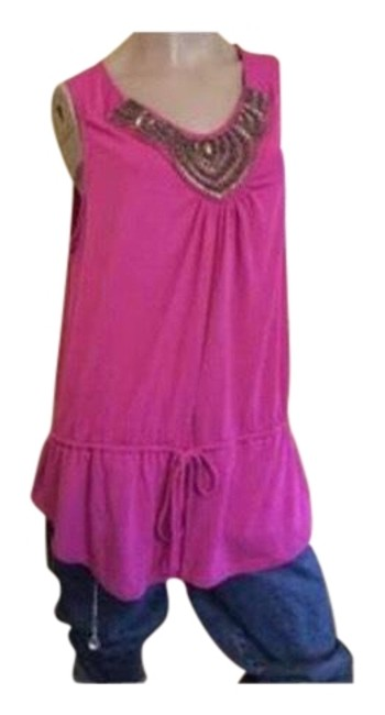 Preload https://item5.tradesy.com/images/fuchsia-beaded-blouse-size-24-plus-2x-23818399-0-1.jpg?width=400&height=650