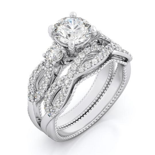 Preload https://img-static.tradesy.com/item/23818400/solid-925-sterling-silver-20-ct-round-brilliant-cut-stones-7-women-s-wedding-band-set-0-0-540-540.jpg