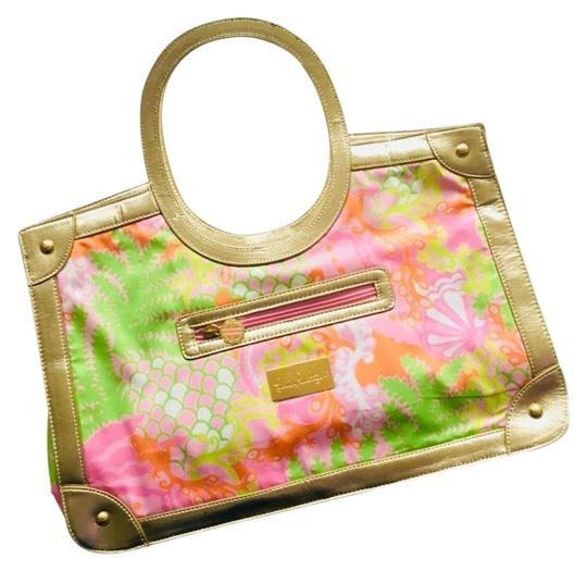 Preload https://img-static.tradesy.com/item/23818443/lilly-pulitzer-lilly-s-checking-in-pink-multi-and-gold-tote-0-1-540-540.jpg
