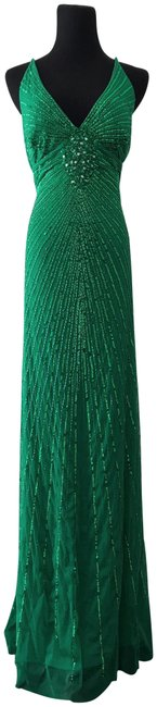 Preload https://item4.tradesy.com/images/adrianna-papell-green-vintage-style-beaded-091904750-long-formal-dress-size-10-m-23818463-0-1.jpg?width=400&height=650