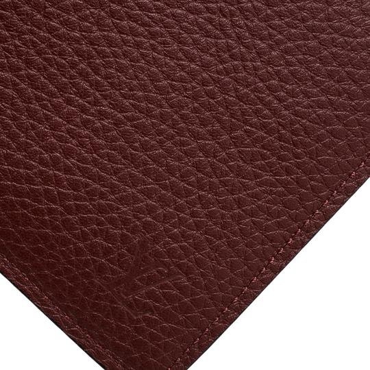 Louis Vuitton Red Leather Bifold Multiple Wallet