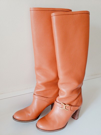 Chloé Pebbled Leather Tan Boots