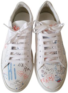 Mira Mikati Leather Sneaker White/Blue Athletic