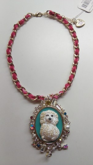 Betsey Johnson Betsey Johnson New Poodle Cameo Necklace & Ring