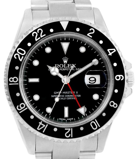 Preload https://img-static.tradesy.com/item/23818611/rolex-black-gmt-master-ii-error-dial-steel-mens-40mm-16710-box-papers-watch-0-1-540-540.jpg