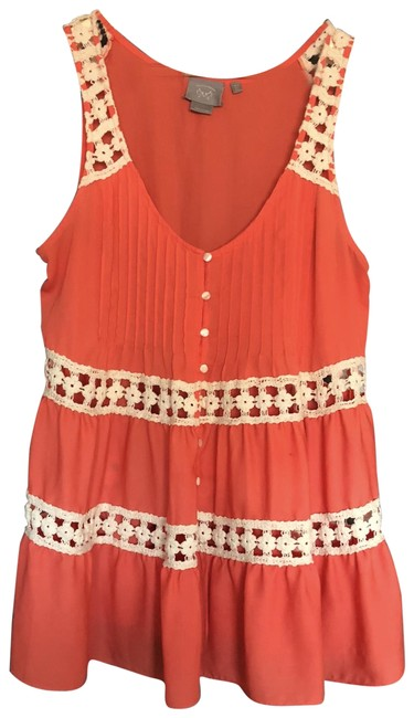 Preload https://img-static.tradesy.com/item/23818653/rose-anthropologie-night-out-top-size-10-m-0-1-650-650.jpg