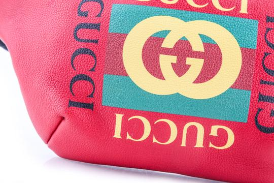 Gucci Gucci Print Leather Belt Bag Hibiscus Red