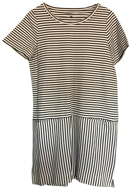 Preload https://item4.tradesy.com/images/madewell-black-and-white-mid-length-short-casual-dress-size-12-l-23818678-0-1.jpg?width=400&height=650
