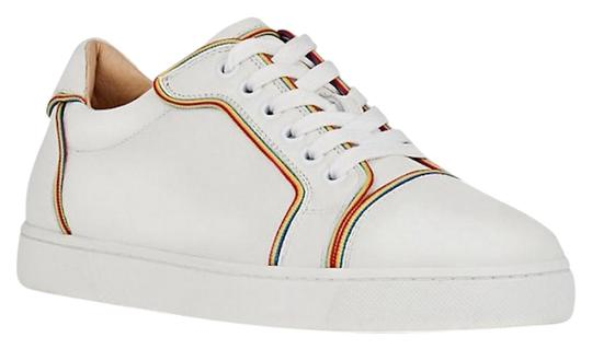 Preload https://item1.tradesy.com/images/christian-louboutin-white-vieira-flat-multicolor-piping-jumbo-calf-lace-up-low-top-sneaker-sneakers--23818690-0-1.jpg?width=440&height=440