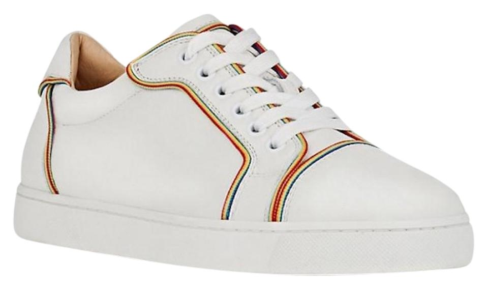 a6f34b4a131 Christian Louboutin Flat Sneaker Trainer Vieira Leather white Athletic  Image 0 ...