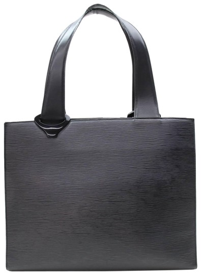 Preload https://item1.tradesy.com/images/louis-vuitton-germeau-867335-black-leather-tote-23818720-0-1.jpg?width=440&height=440