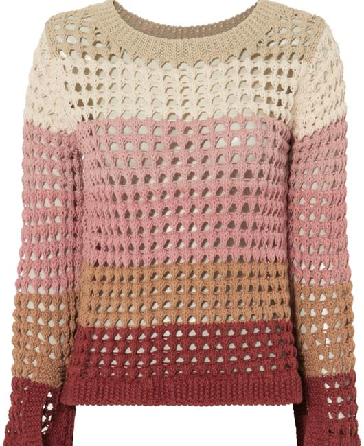 Preload https://img-static.tradesy.com/item/23818743/see-by-chloe-open-knit-multicolor-sweater-0-1-650-650.jpg