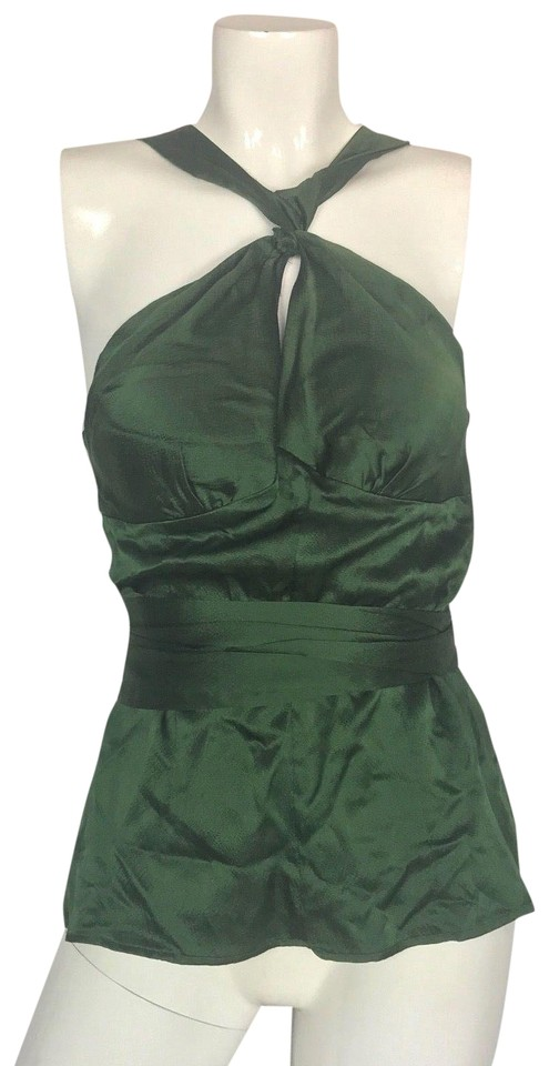99be34b2f Tracy Reese Green Silk Satin Women Formal Party Career Tank Top/Cami. Size:  8 ...