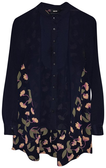 Preload https://img-static.tradesy.com/item/23818767/maeve-navy-blue-and-muted-florals-blouse-size-6-s-0-4-650-650.jpg