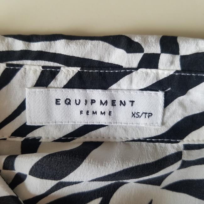 Equipment Silk Equipmentfemme Top White and Black