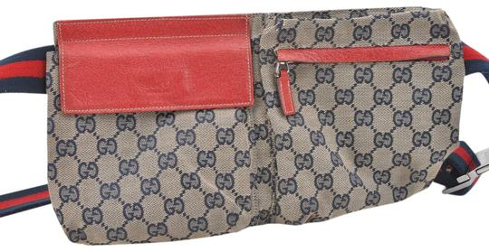 Preload https://item5.tradesy.com/images/gucci-monogram-waist-pouch-belt-pack-867344-navy-red-coated-canvas-cross-body-bag-23818779-0-1.jpg?width=440&height=440