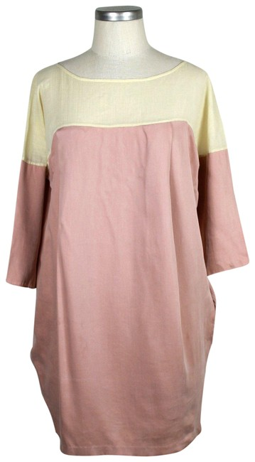 Preload https://img-static.tradesy.com/item/23818791/elizabeth-and-james-pink-and-cream-tunic-short-casual-dress-size-2-xs-0-1-650-650.jpg