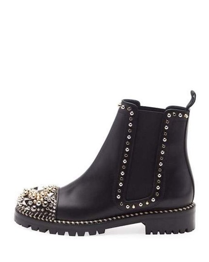 Christian Louboutin Ankle Classic Chasse Studded black Boots