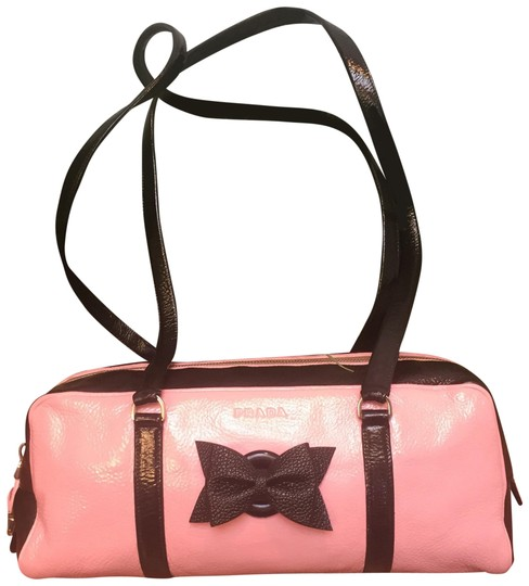 Preload https://item4.tradesy.com/images/prada-authenticated-custom-designed-retro-chic-black-and-pink-leather-satchel-23818818-0-2.jpg?width=440&height=440