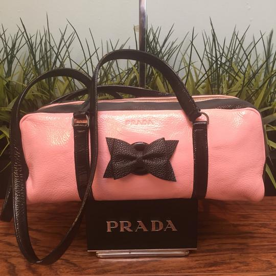 Prada Satchel in Black & Pink