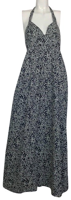 Preload https://item3.tradesy.com/images/joie-multi-color-floral-navy-blue-white-sleeveless-halter-long-casual-maxi-dress-size-4-s-23818822-0-1.jpg?width=400&height=650