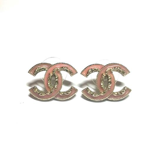 Chanel Classic Ruffle Edge Classic CC Coco Studs with Box BEAUTIFUL and RARE