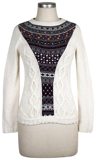 Preload https://img-static.tradesy.com/item/23818847/anthropologie-cream-angel-of-the-north-beaded-sweaterpullover-size-6-s-0-1-650-650.jpg