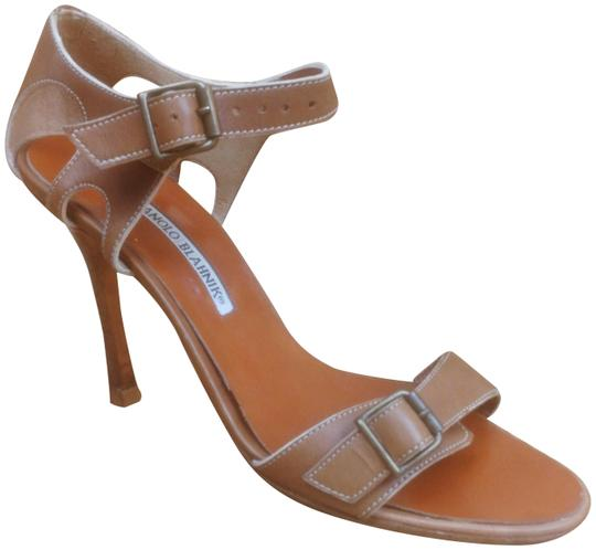 Preload https://item5.tradesy.com/images/manolo-blahnik-tan-slingback-open-toe-strappy-leather-heels-sandals-size-eu-39-approx-us-9-regular-m-23818879-0-1.jpg?width=440&height=440