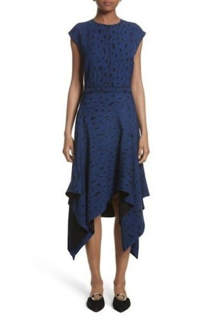 Preload https://img-static.tradesy.com/item/23818885/proenza-schouler-blueblack-silk-gorgette-handkerchief-with-tie-at-mid-length-night-out-dress-size-8-0-0-650-650.jpg