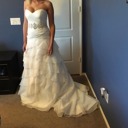 Alfred Angelo White Formal Wedding Dress Size 4 (S)
