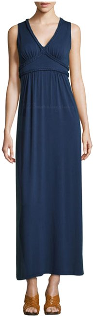 Preload https://item1.tradesy.com/images/max-studio-navy-braided-trimruched-bodice-style-no-4903q69-long-cocktail-dress-size-6-s-23818900-0-1.jpg?width=400&height=650