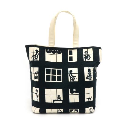 Preload https://item5.tradesy.com/images/chanel-coco-window-and-white-black-canvas-tote-23818904-0-0.jpg?width=440&height=440