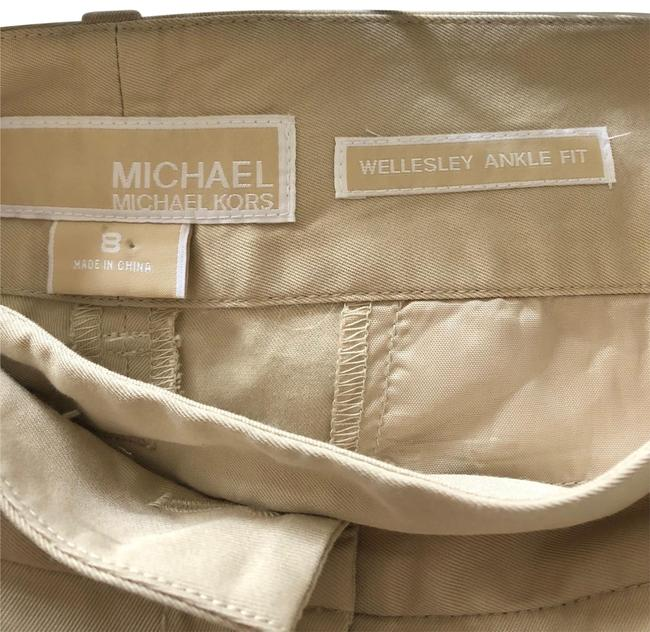 Preload https://item1.tradesy.com/images/michael-kors-beige-wellesly-ankle-fit-capricropped-pants-size-8-m-29-30-23818915-0-1.jpg?width=400&height=650