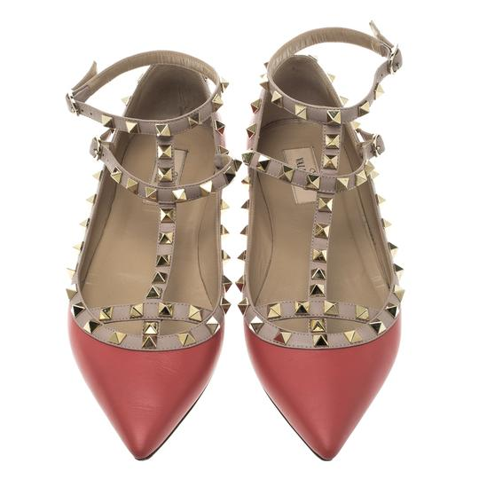 Valentino Leather Ballet Red Flats