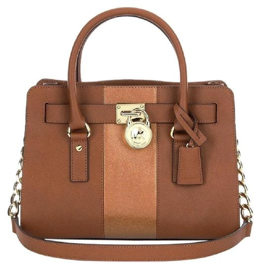 Preload https://item5.tradesy.com/images/michael-kors-hamilton-center-stripe-medium-new-with-tags-luggage-browngold-hardware-saffiano-leather-23818964-0-0.jpg?width=440&height=440