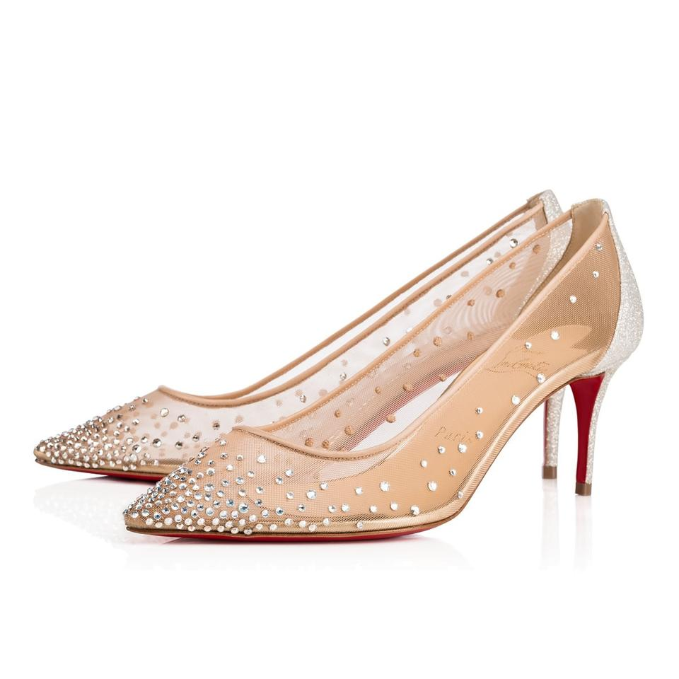 395d594f8ab Christian Louboutin Stiletto Pigalle Strass Crystal Follies nude Pumps  Image 0 ...