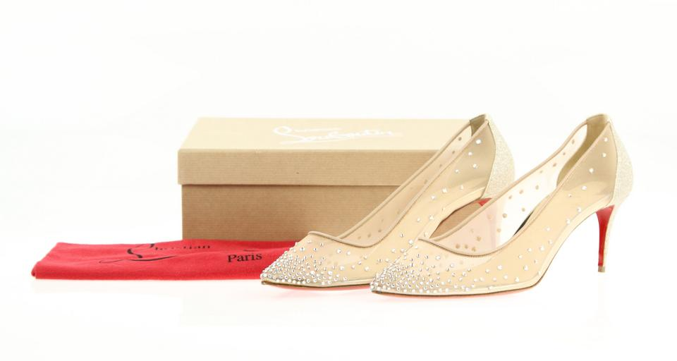 4587d9e081ca Christian Louboutin Stiletto Pigalle Strass Crystal Follies Beige Pumps  Image 10. 1234567891011