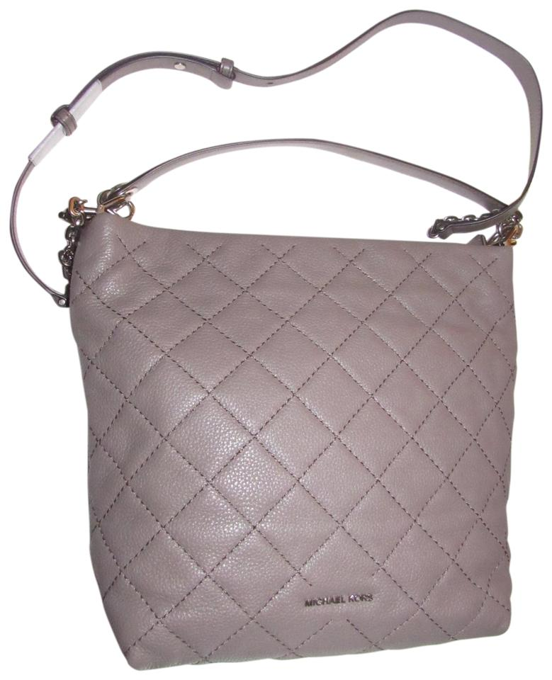 20d0fdb054cfc Michael Kors Purses Designer Purses Grey Quilted and Smooth Leather ...