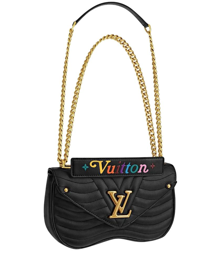 c83a6f0b4e Louis Vuitton New Wave Chain Pm Black Calfskin Leather Cross Body ...