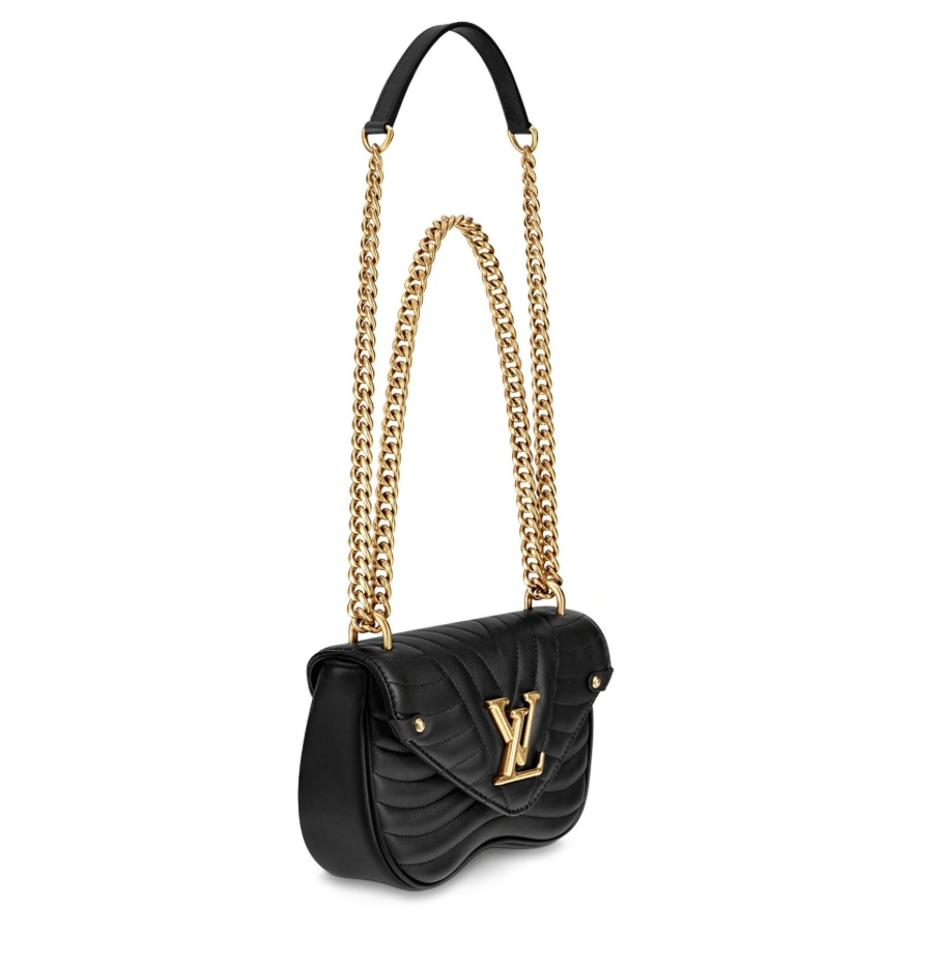 4425c238f131 Louis Vuitton New Wave Chain Pm Black Calfskin Leather Cross Body ...