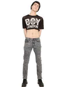 BOY London Tops Crop Mesh Polyester Top Black