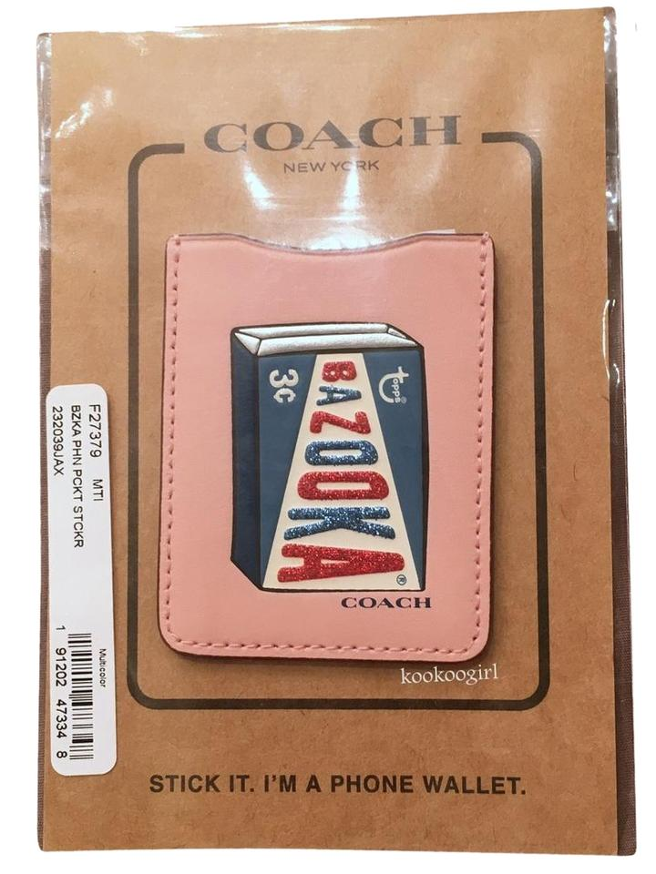 02851d4e Coach Pink Bazooka Phone Sticker Pocket Card Case Id Iphone Androids 27379  Tech Accessory
