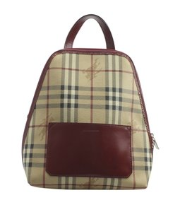 Burberry Burberry Haymarket Check & Leather Backpack (154660)