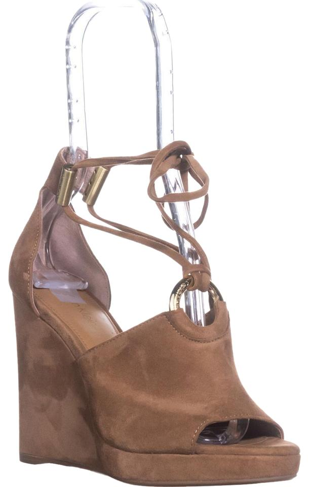 Calvin Klein Brown 37 Ramona T-strap Wedge New Caramel / 37 Brown Eu Sandals 445d78