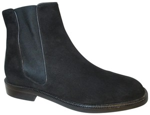 Escada Suede Leather Ankle 001 black Boots