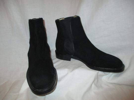 Escada Suede Leather Ankle 001 black Boots Image 3