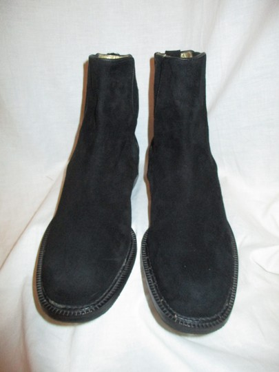 Escada Suede Leather Ankle 001 black Boots Image 4
