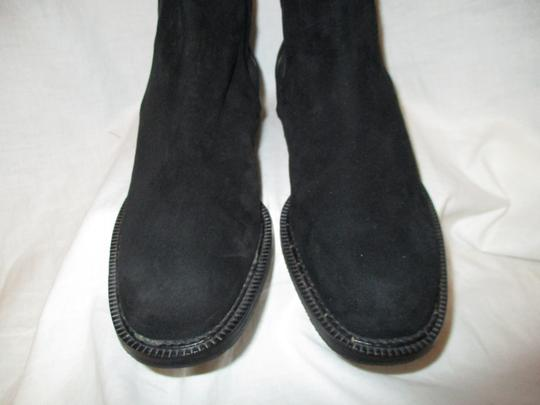 Escada Suede Leather Ankle 001 black Boots Image 5