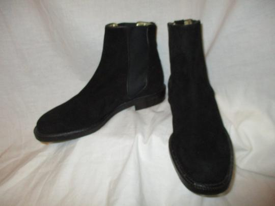 Escada Suede Leather Ankle 001 black Boots Image 6