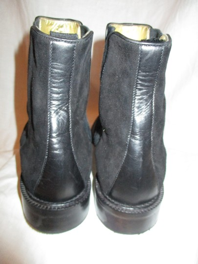 Escada Suede Leather Ankle 001 black Boots Image 7